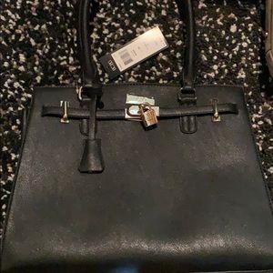 BCBG black bag with gold hardware